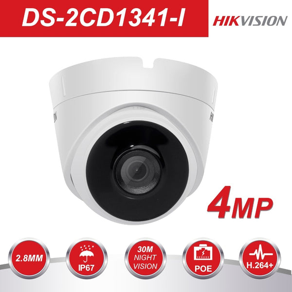 Hikvision Security Camera DS-2CD1341-I 4MP CMOS Network Turret CCTV PoE IP Camera with Night version Replace DS-2CD3345-I