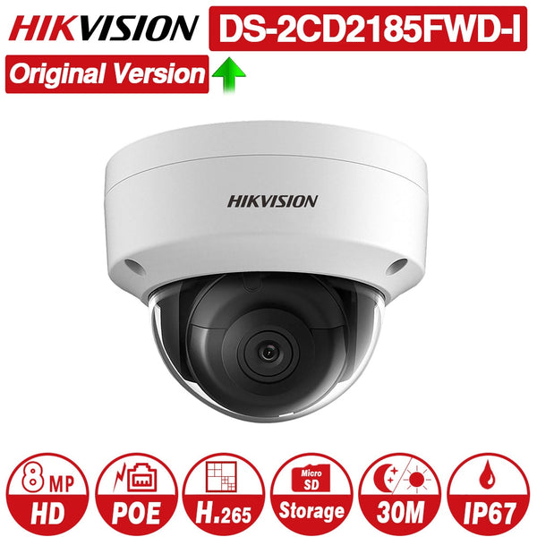 Hikvision Original DS-2CD2185FWD-I 8MP CCTV Camera Network Camera H.265 Updatable Camera Audio Alarm Interface