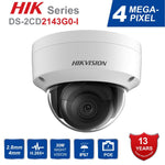 Hik Dome IR Fixed Network Security Night Version  CCTV IP Camera DS-2CD2143G0-I  IP67 4MP CMOS with SD Card Slot Ships from China