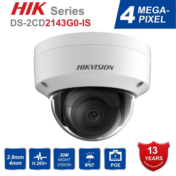 Hik Dome CCTV IP Camera Outdoor DS-2CD2143G0-IS 4MP IR Network Security Night Version Camera H.265 with SD Card Slot IP 67 Ships from China