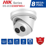 HIK English version DS-2CD2385FWD-I 8MP mini network turret CCTV security camera POE 30M IR H 265 dome ip camera Ships from China