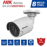 Hik 8MP CCTV Camera Updateable DS-2CD2085FWD-I IP Camera High Resoultion WDR POE Bullet CCTV Camera With SD Card Slot Ships from China