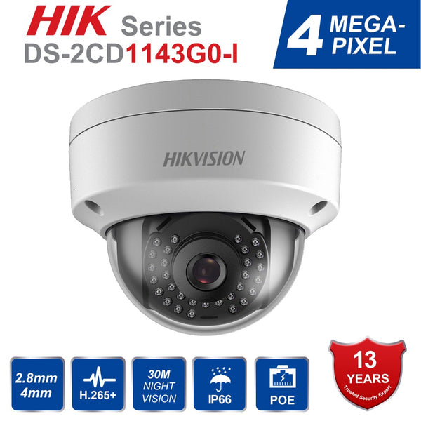 Hik Video Surveillance Camera DS-2CD1143G0-I 4MP IR Network Bullet IP Camera POE H.265+ Replace DS-2CD1141-I Ships from China