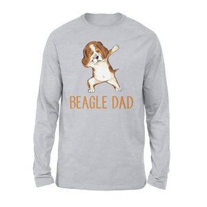 Dabbing Beagle Dad - Premium Long Sleeve