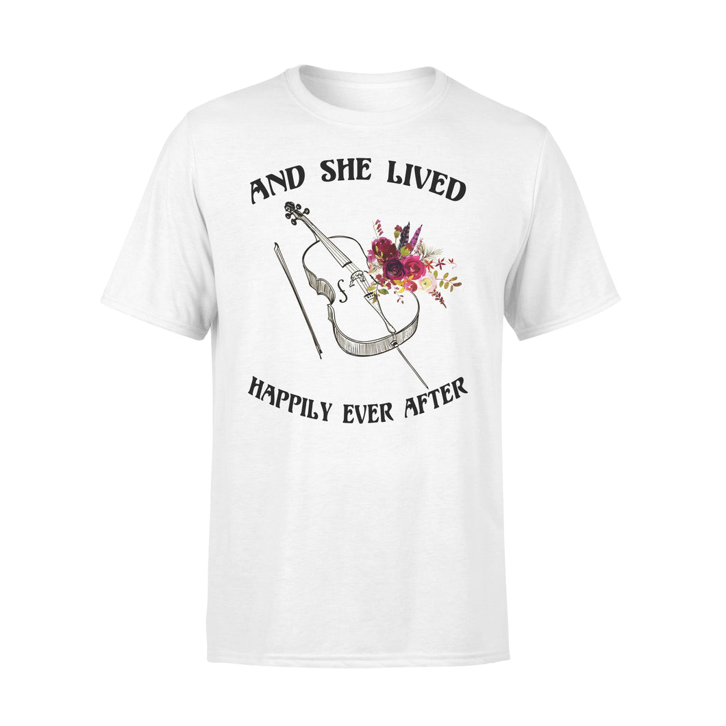 And She Lived Happily Ever After - Cello - Premium Tee