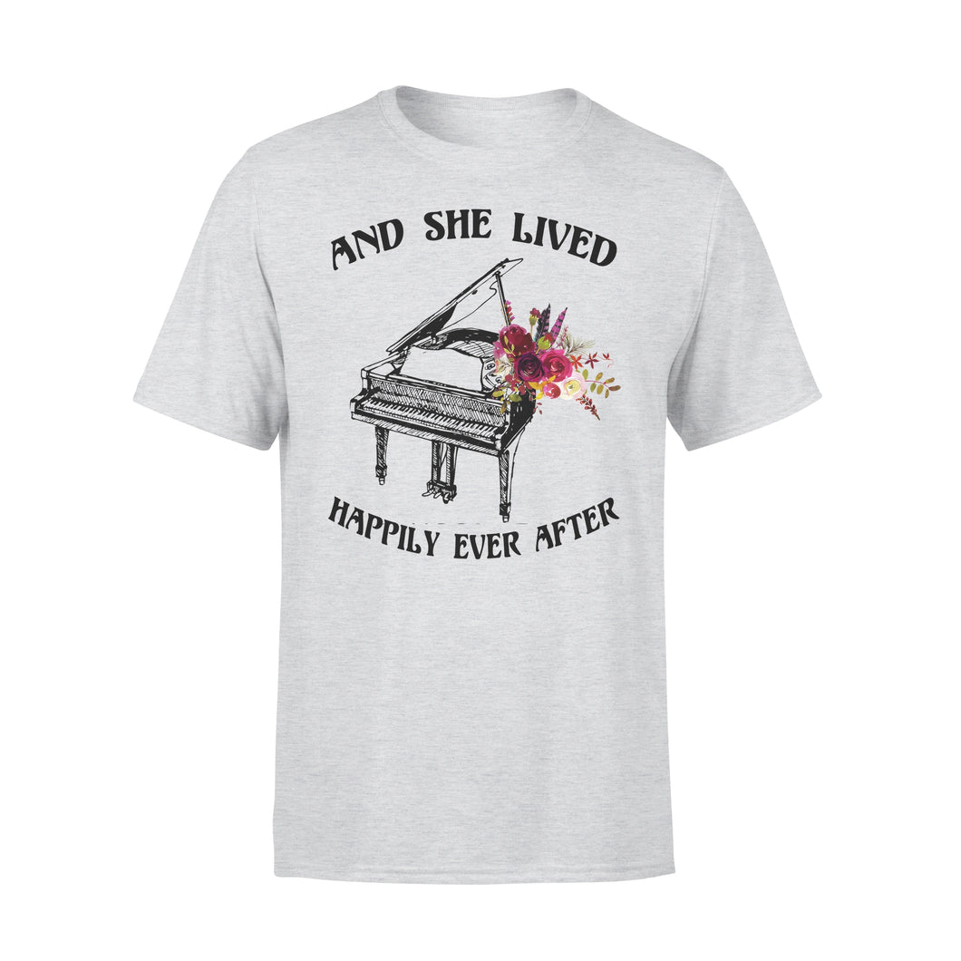 And She Lived Happily Ever After - Piano - Premium Tee