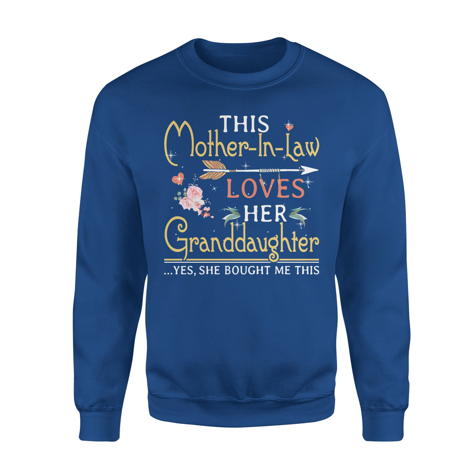 This Mother-In-Law Loves Her Granddaughter - Premium Fleece Sweatshirt