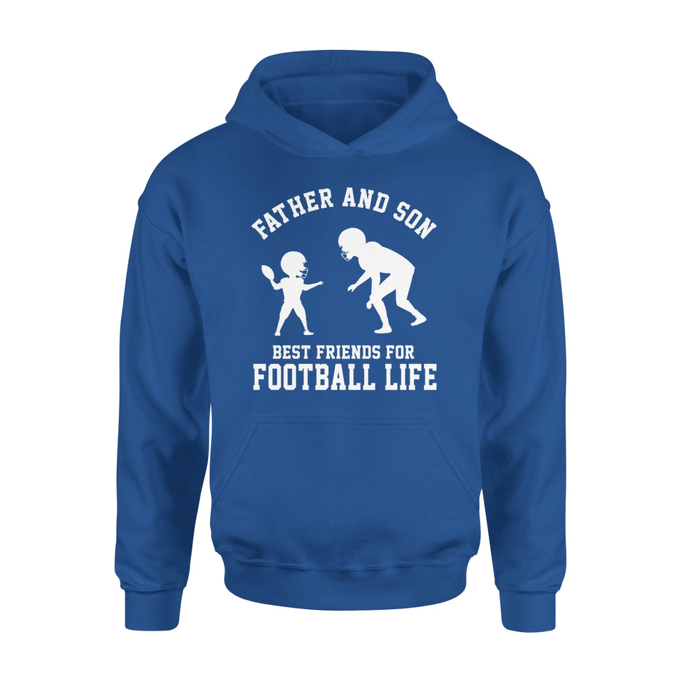 Father And Son Best Friends For Football Life - Premium Hoodie
