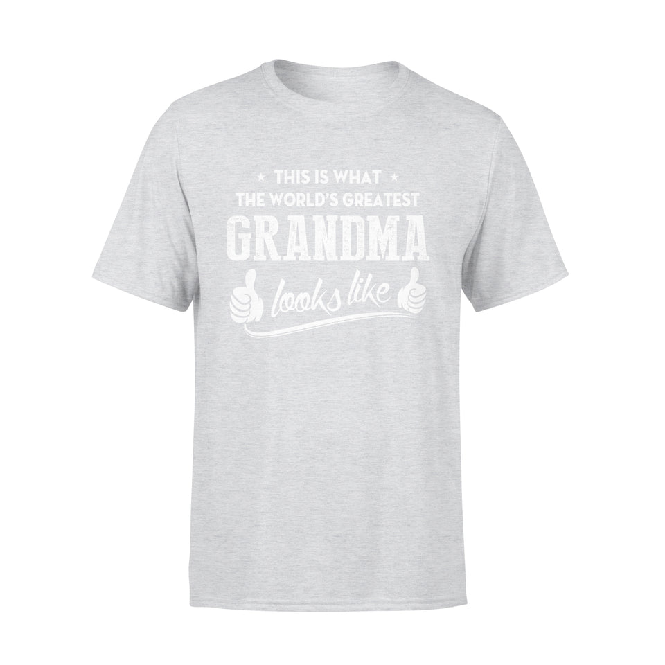 This Is What The World's Greatest Grandma Looks Like - Premium Tee