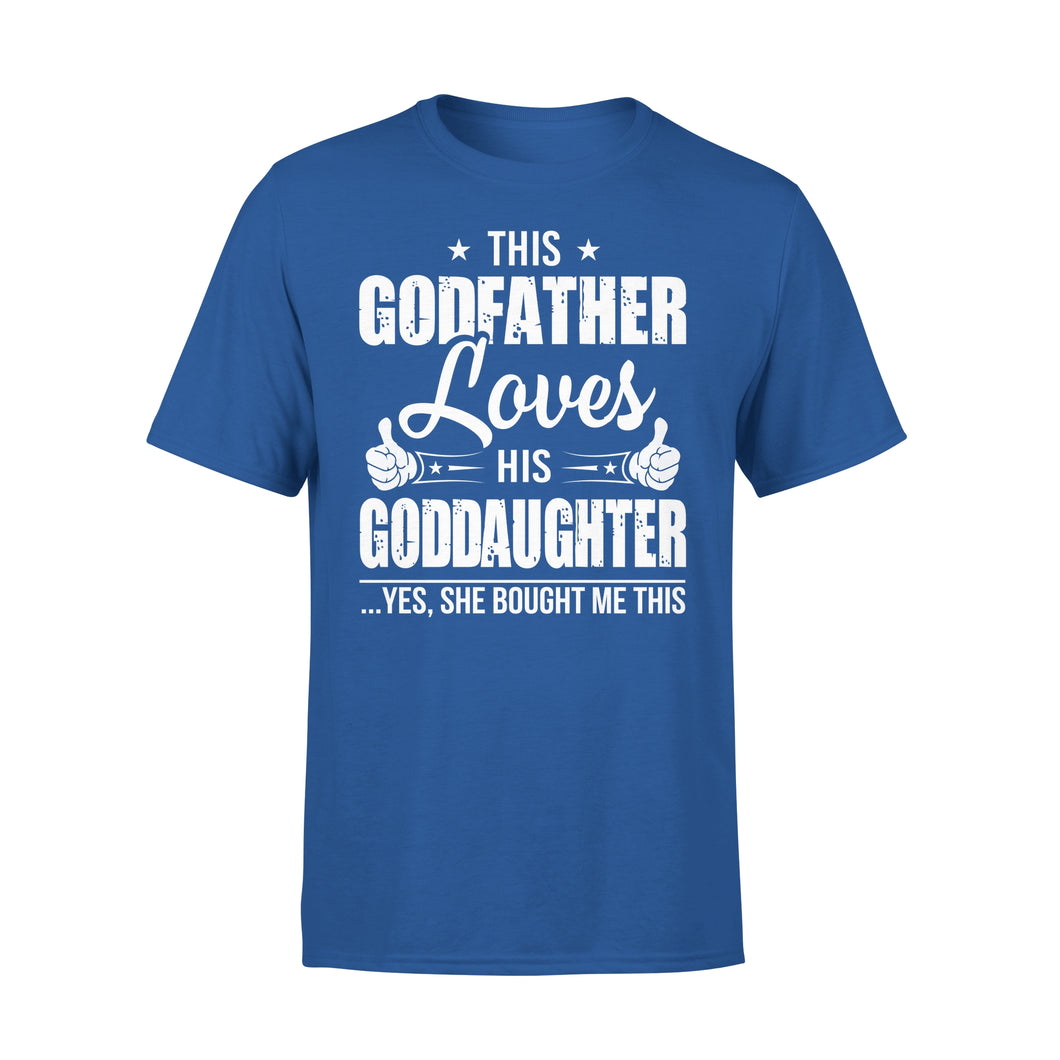This Godfather Loves His Goddaughter - Premium Tee
