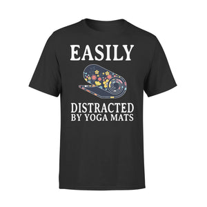 Easily Distracted By Yoga Mats - Premium Tee