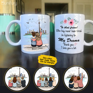 Personalized custom female best friend bestie sister birthday gift ideas coffee mug CN Tower - 2337