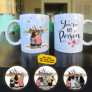 Personalized custom female best friend bestie sister birthday gift ideas coffee mug Opera Sydney - 2308