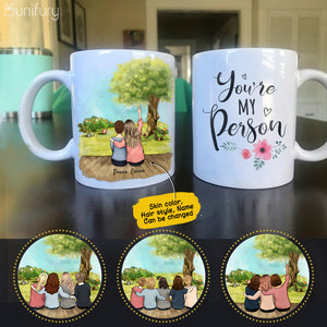 Personalized custom female best friend bestie sister birthday gift ideas coffee mug - Porch view - 2429