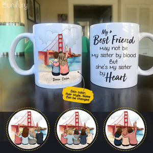 Personalized custom female best friend bestie sister birthday gift ideas coffee mug - Golden Gate - 2427