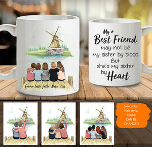 Personalized custom female best friend bestie sister birthday gift ideas coffee mug - Windmill - 2315