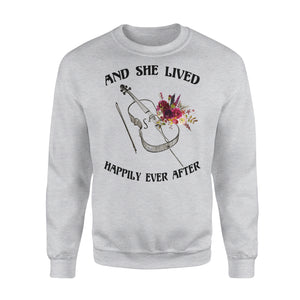 And She Lived Happily Ever After - Cello - Premium Fleece Sweatshirt