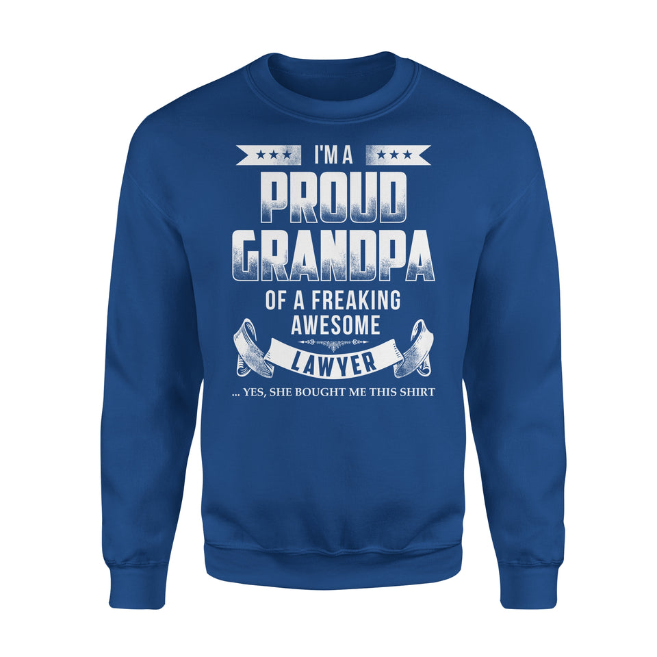I'm A Proud Grandpa Of A Freaking Awesome Lawyer - Premium Fleece Sweatshirt