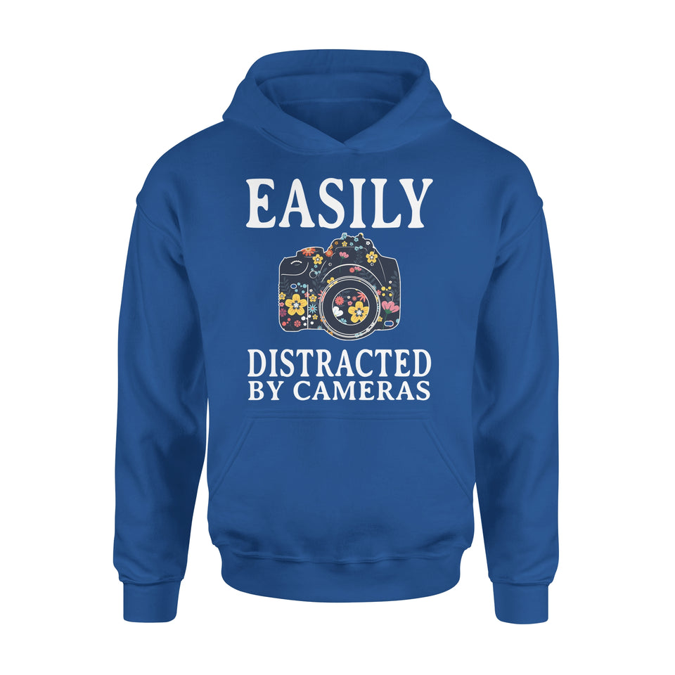 Easily Distracted By Cameras - Premium Hoodie