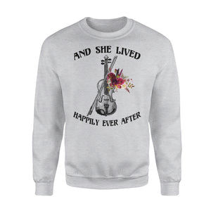 And She Lived Happily Ever After - Violin - Premium Fleece Sweatshirt