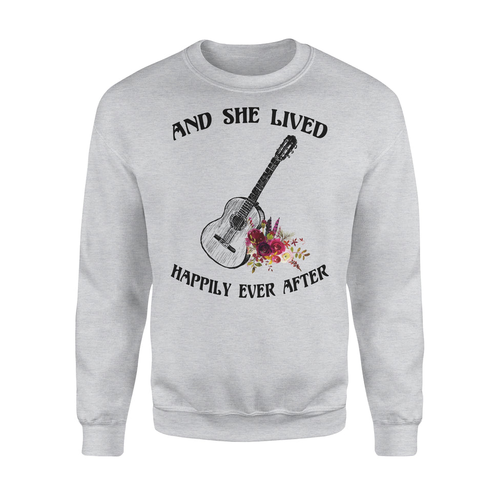And She Lived Happily Ever After - Guitar - Premium Fleece Sweatshirt