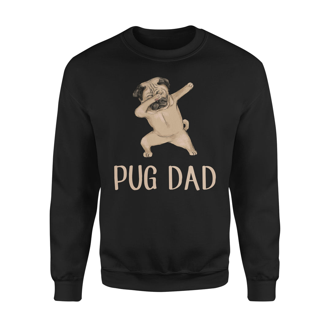 Dabbing Pug Dad - Premium Fleece Sweatshirt
