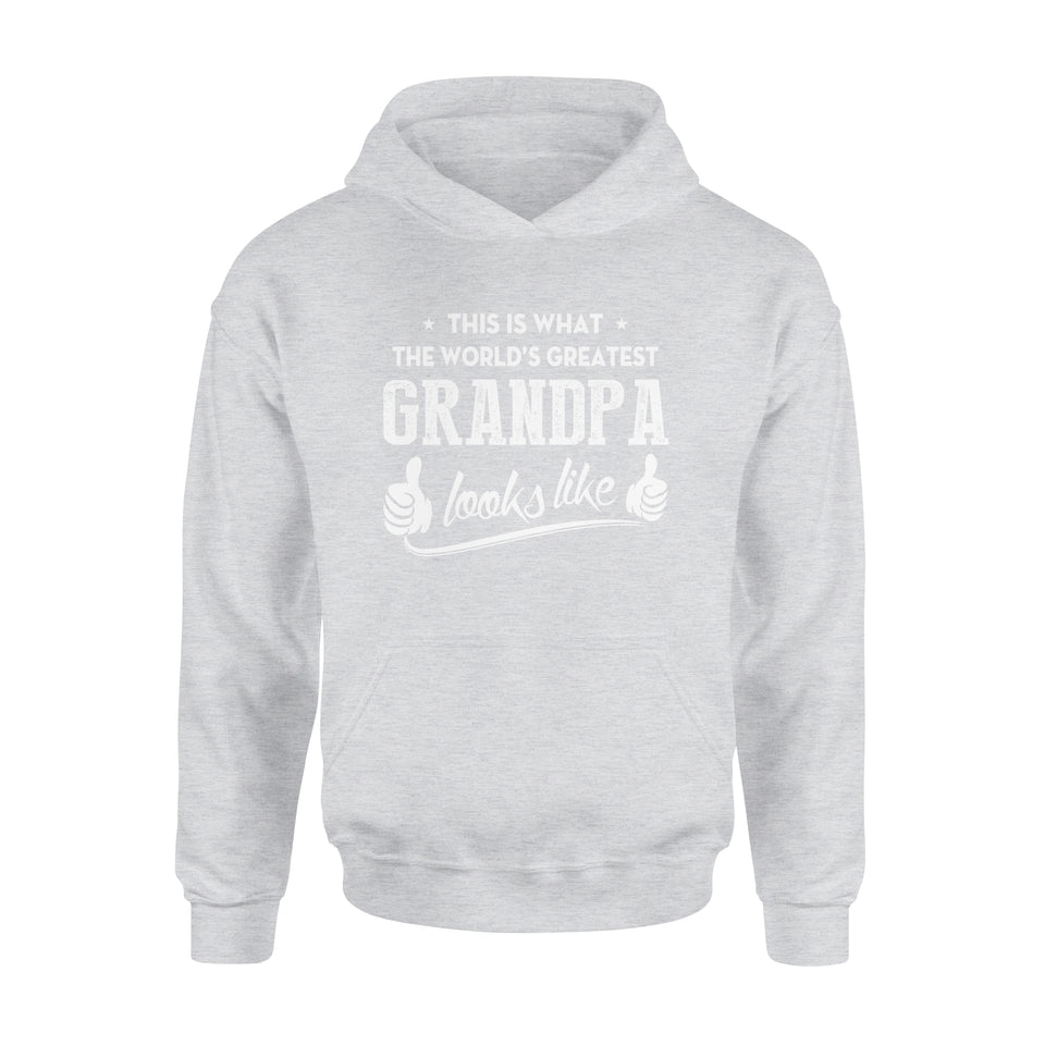 This Is That The World's Greatest Grandpa Looks Like - Premium Hoodie