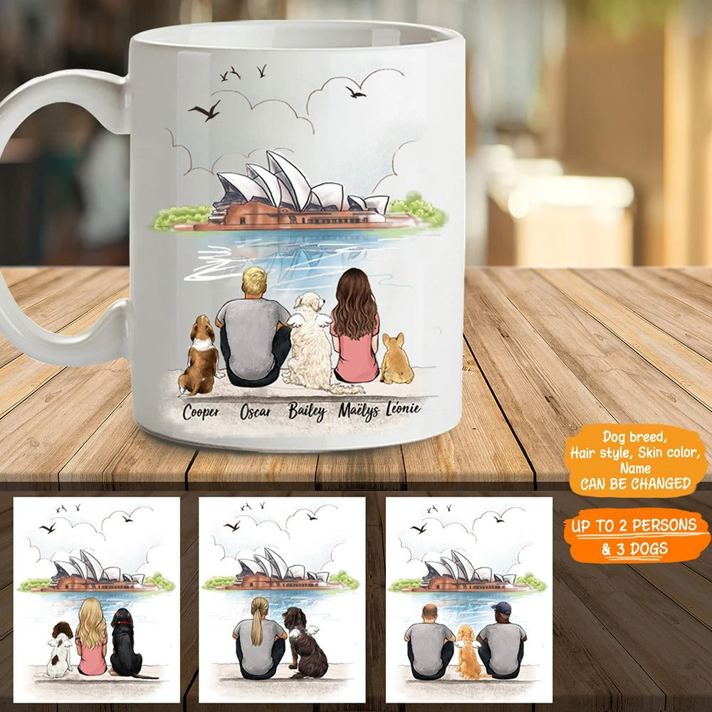 Personalized dog & couple coffee mug gift for dog mom dad lover owner - Opera - 2327