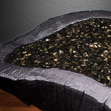 Load image into Gallery viewer, Shou Sugi Ban Live Edge Coffee Table with Gold Sheen Obsidian Inlay - Spiritual Nexus