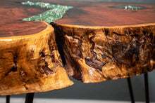 Load image into Gallery viewer, Live Edge Coffee Table with Green Aventurine Inlay - Spiritual Nexus