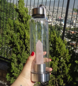 Rose Quartz Elixir Bottle - Spiritual Nexus