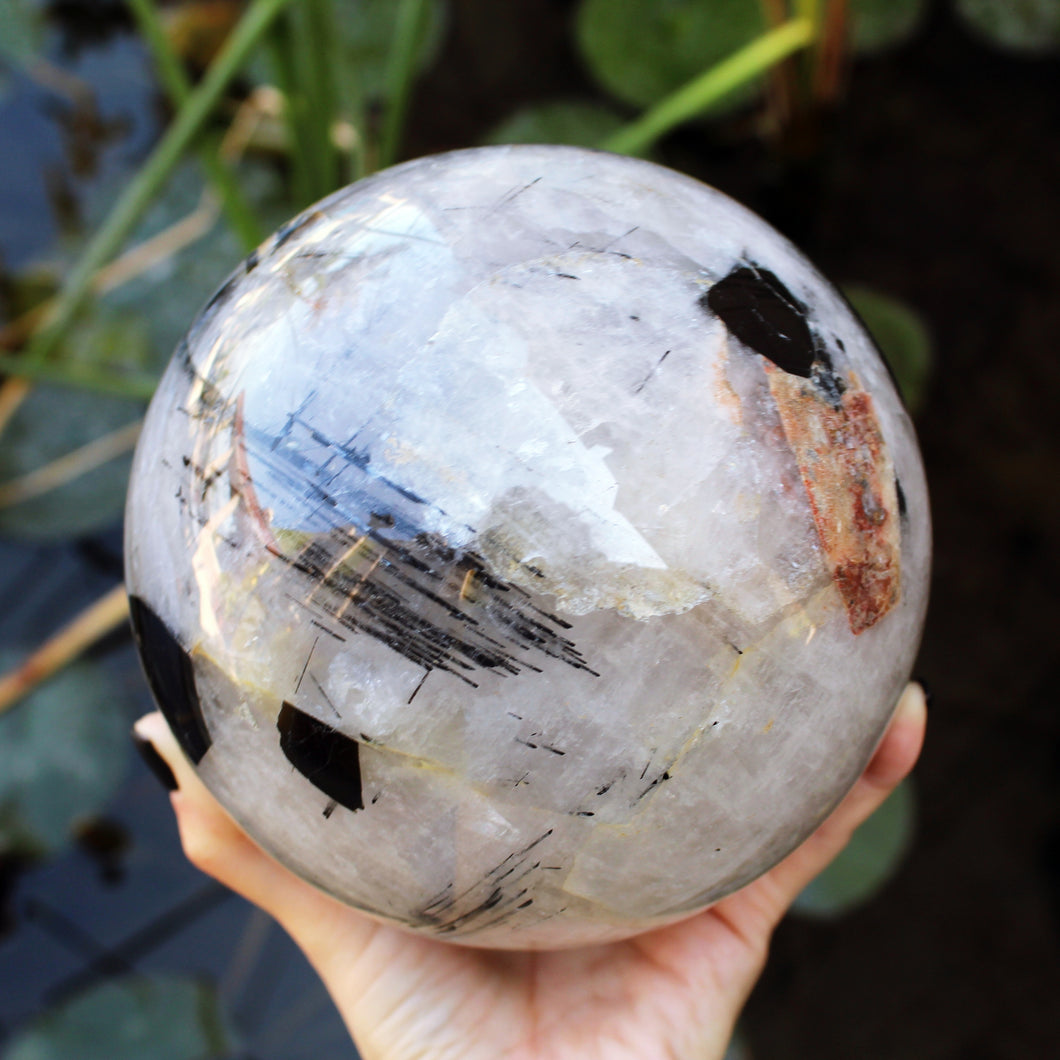 Tourmalated Quartz Sphere - Spiritual Nexus