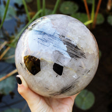 Load image into Gallery viewer, Tourmalated Quartz Sphere - Spiritual Nexus