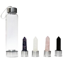 Load image into Gallery viewer, Ultimate Elixir Set - Amethyst, Clear Quartz, Rose Quartz and Black Obsidian Point - Spiritual Nexus