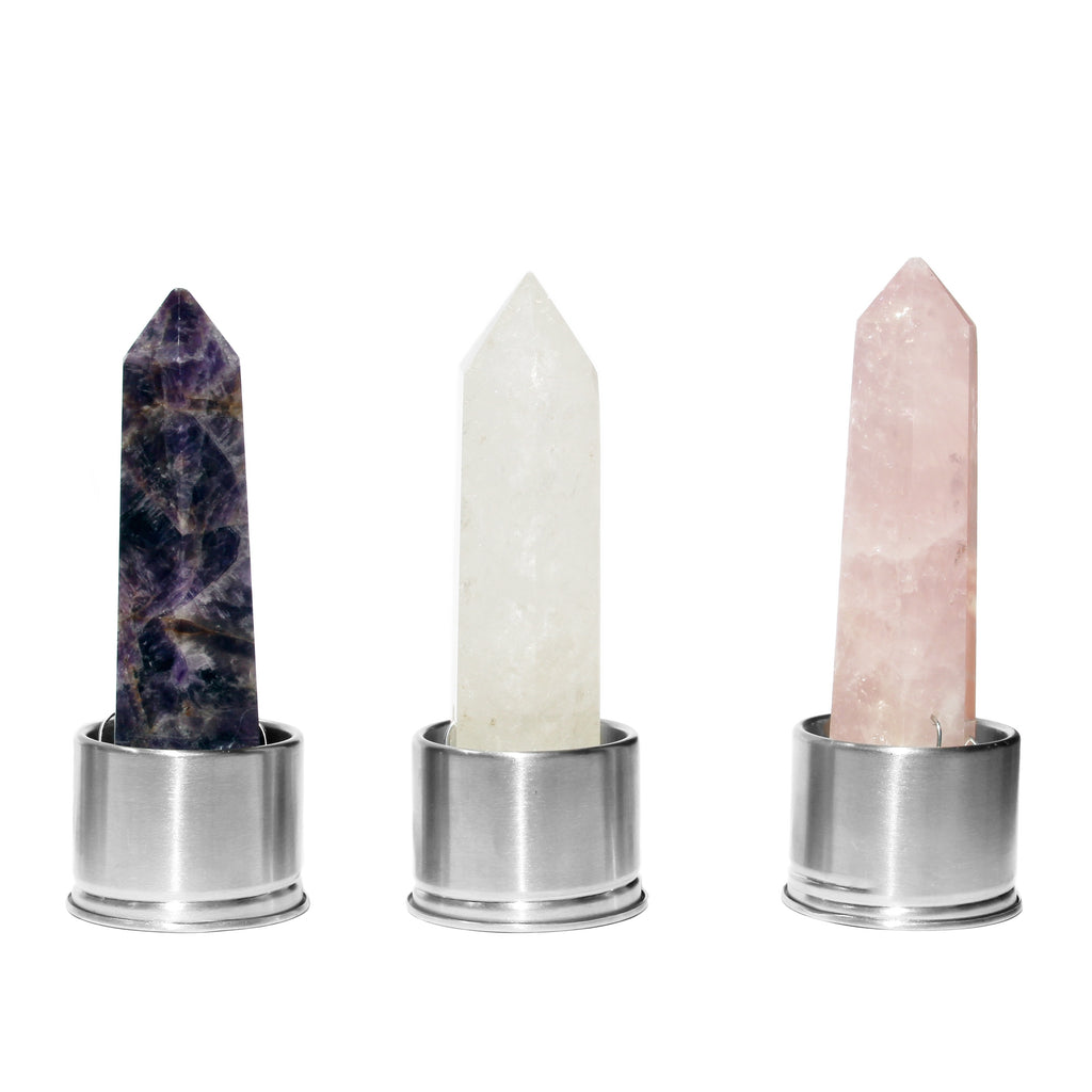 Elixir Starter Set - Amethyst, Clear Quartz and Rose Quartz Point - Spiritual Nexus