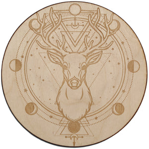 Deer Moon Phase Crystal Grid - Spiritual Nexus