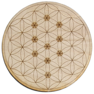 Flower of Life Tree Of Life Crystal Grid - Spiritual Nexus