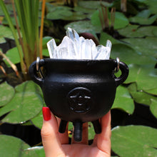 Load image into Gallery viewer, Mini Pentacle Cast Iron Cauldron - Spiritual Nexus