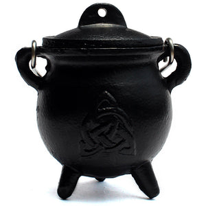 Mini Triquetra Cast Iron Cauldron - Spiritual Nexus