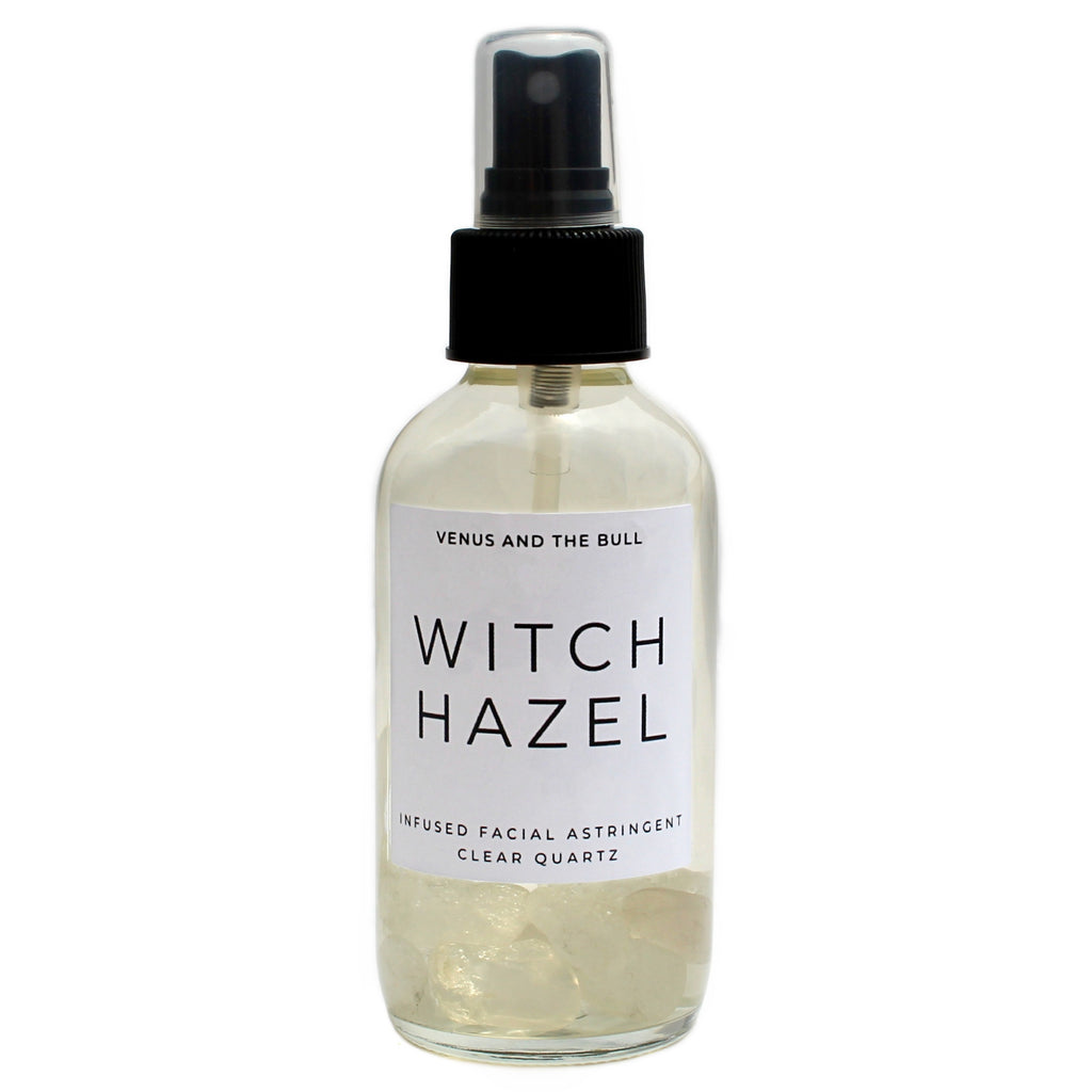 Witch Hazel Facial Astringent - Infused with Clear Quartz - 4oz - Spiritual Nexus