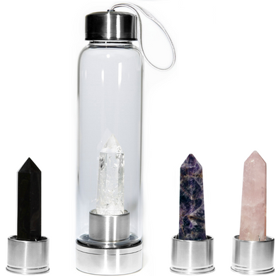 Ultimate Elixir Set - Amethyst, Clear Quartz, Rose Quartz and Black Obsidian Point - Spiritual Nexus