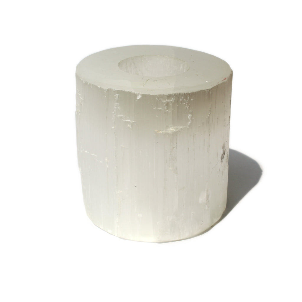 Selenite Candle Holder - Spiritual Nexus