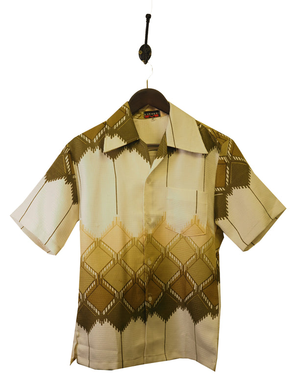 1970s Abstract Print Shirt - S