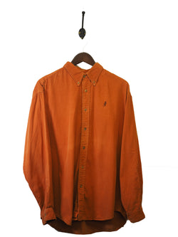 1990s Marlboro Classics Orange Corduroy Shirt - L / XL