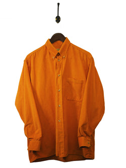 1990s Orange Corduroy Shirt - M / L