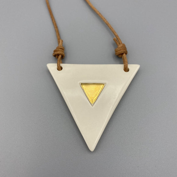 Ivory Triangle Necklace 003