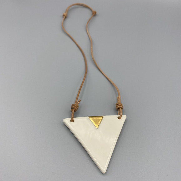 Ivory Triangle Necklace 002