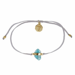APATITE CRYSTAL BRACELET- PASTEL GREY - GOLD plated sterling silver by tiger frame jewellery
