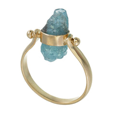 APATITE SWIVEL RING - GOLD plated sterling silver by tiger frame jewellery