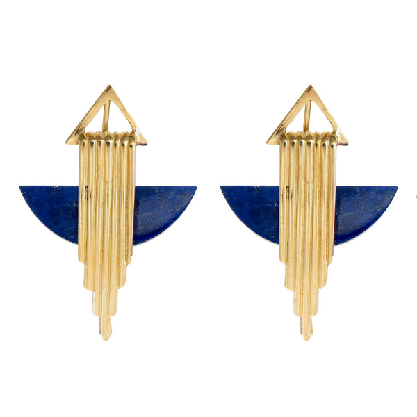 AURORA HALF MOON EARRINGS - GOLD